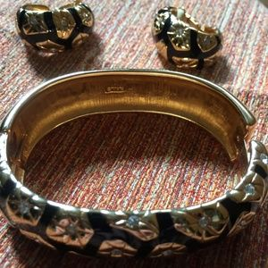 Vintage S.A.L./Swarovski Cuff Bracelet W/EARRINGS